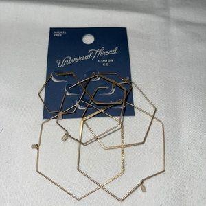 Universal Thread Nickel Free hoop earrings